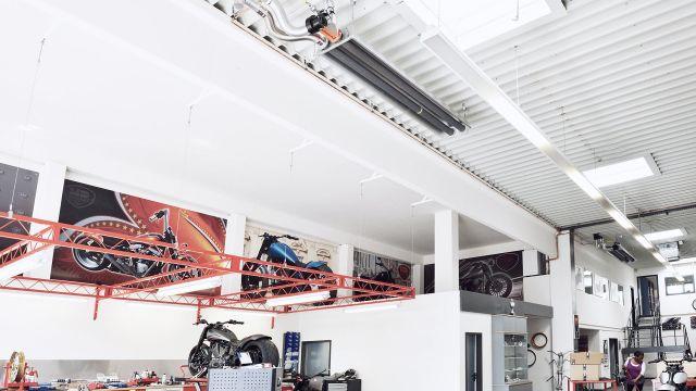 Efficient workshop heating systems